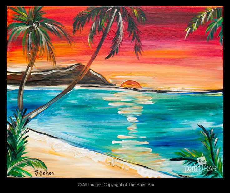 Waikiki Beach, Hawaii Painting - Jackie Schon, The Paint Bar