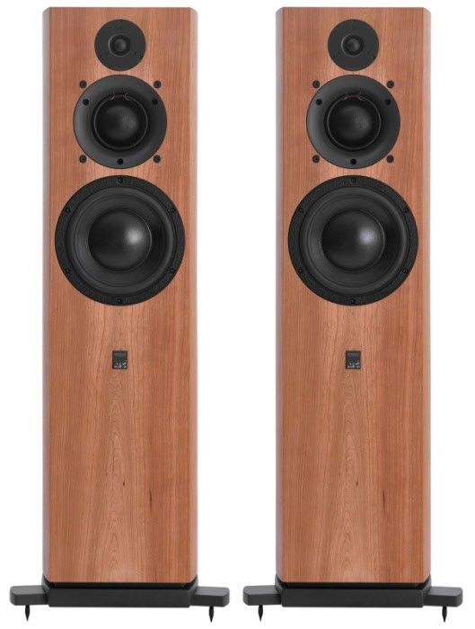The hand-built ATC SCM40A Speakers can deal with high output intensities and ensure the music delivery is never too overpowering. Front.