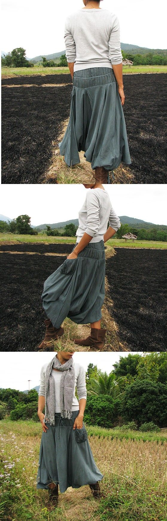 I need some of these for the gardening projects!  Looks like a skirt but everything is safely covered.