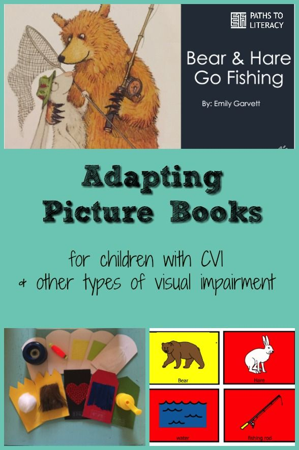 Adapting picture books for children with CVI and other types of visual impairment