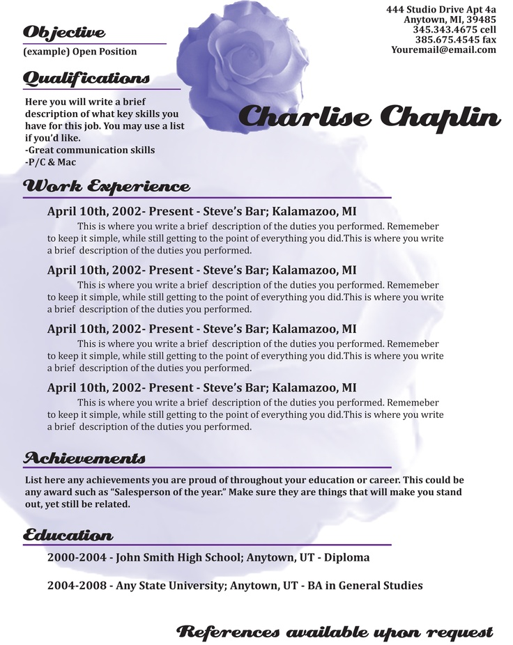 8 best Creative Resumes! images on Pinterest Curriculum, Resume - complete resume