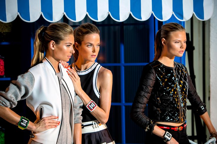 Inside the Women's Spring - Summer 2014 campaign: shots from the backstage.