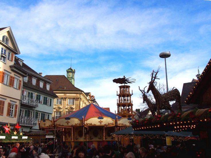 Esslinger Mittelaltermarkt und Weihnachtsmarkt em Esslingen am Neckar, Baden-Württemberg