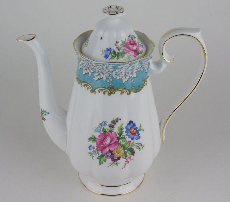 Large Coffee Pot Royal Albert Enchantment Discounted   eBay