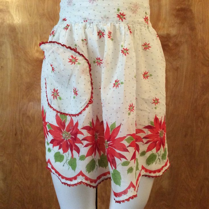 Vintage Hostess Apron Christmas Party 1950's 1960's