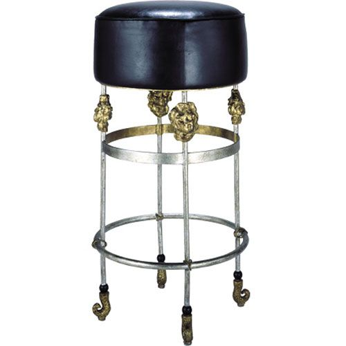 Armory Gold Leaf Bar Stool Flambeau Lighting Bar Height (28 To 36 Inch) Bar Stools Kitchen