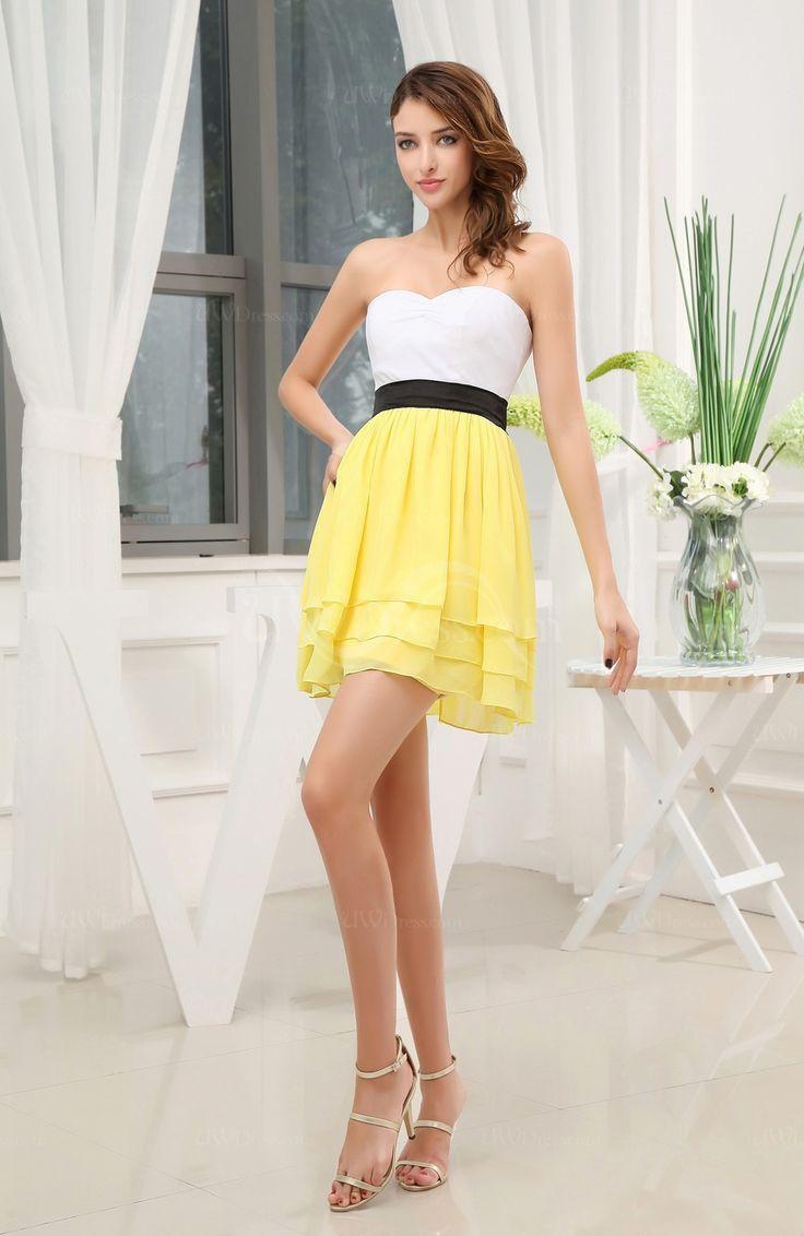 Yellow Short Wedding Dress