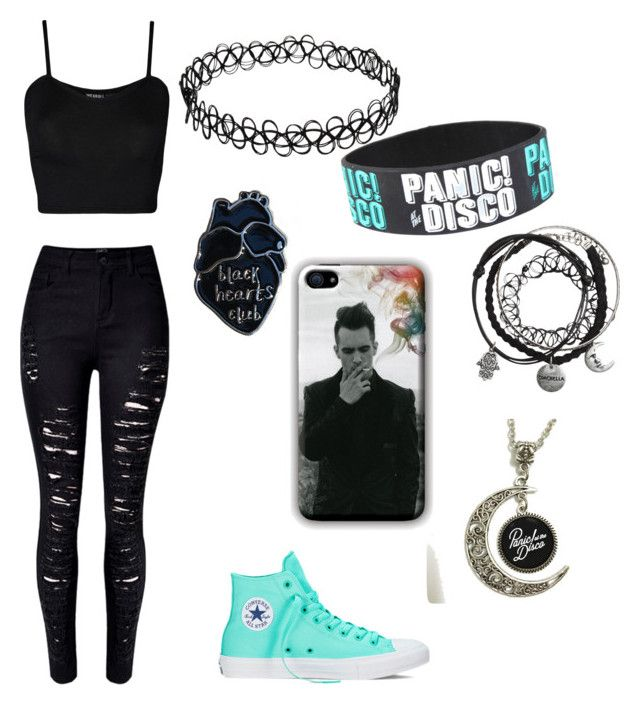 """Panic at the disco outfit"" by emo69 on Polyvore featuring WearAll, WithChic and Converse"