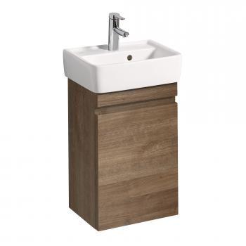 Keramag Renova Nr. 1 Plan Handwaschbecken-Unterschrank B: 39,4 H: 58,6 T: 29,5 cm Front und Korpus eiche natur dunkel