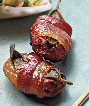 Bacon-Wrapped Apricots with Sage Recipe