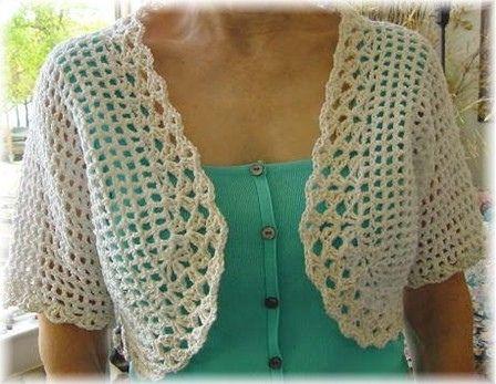Short Sleeve Bolero pattern by Lisa Gentry
