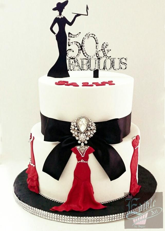 Fabulous 50 By Sophia Haniff Cakes Cake Decorating Daily