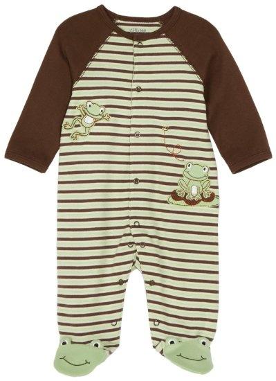 amazon little me frog footie clothing  baby girl