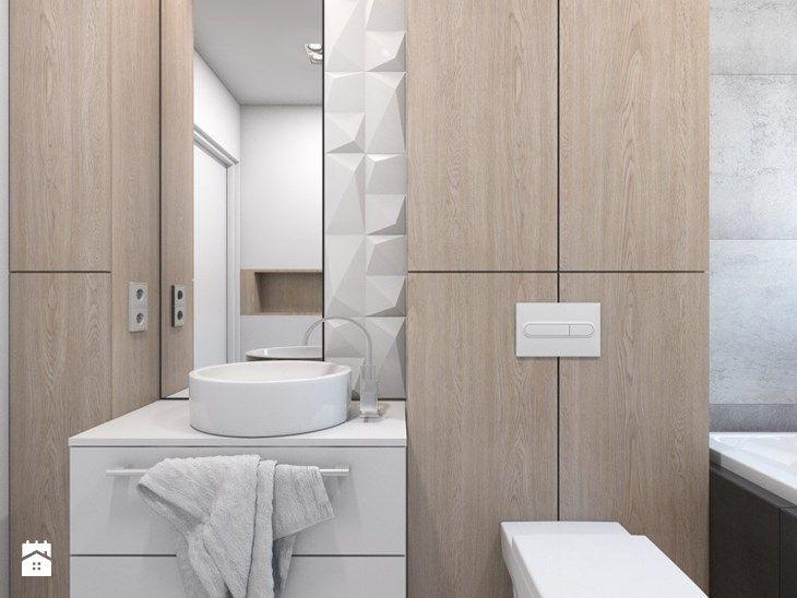(Dom w okolicy Lublińca) Dom jednorodzinny 7 - Mała łazienka w bloku bez okna, styl nowoczesny - zdjęcie od BAGUA Pracownia Architektury Wnętrz