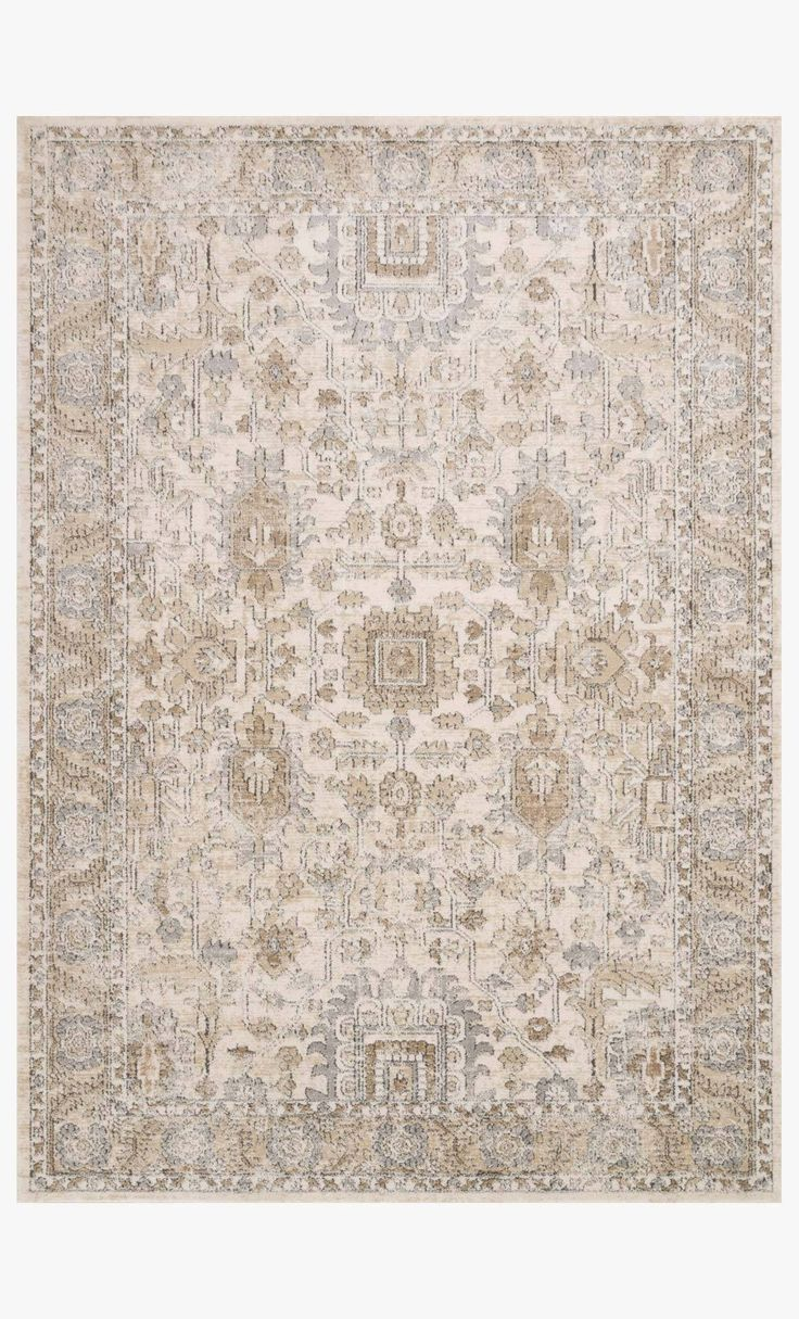 """Teagan Ivory / Sand Rug Size 2' 8"""" X 10' 6"""" in 2020"""