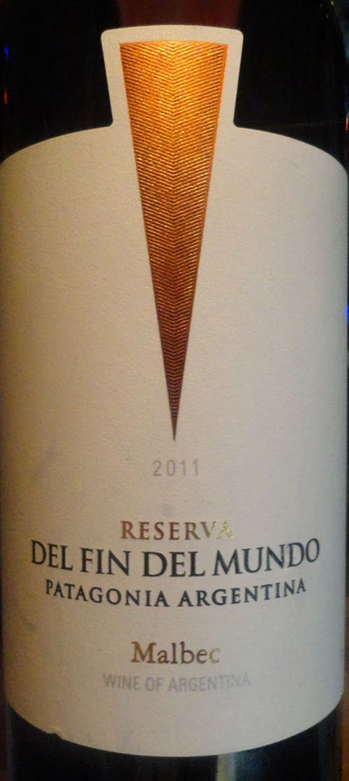 Club des Dégustateurs de Grands Vins: Malbec Reserva, Bodega del Fin del Mundo, Patagonie, 2012, Argentine