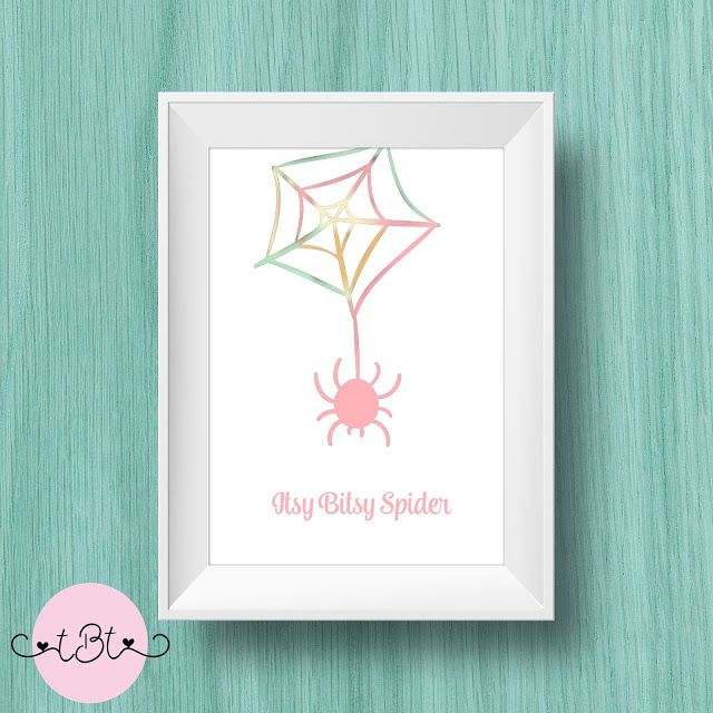 Itsy Bitsy Spider Nursery Rhyme 8.5x11 Print This can be used for used for Home Decor, Gallery Walls, Wall Art, DIY Wall Art, Cheap or Inexpensive Gifts, Nursery Wall Art, Nursery Decor, Wall Decor, or Office Decor.