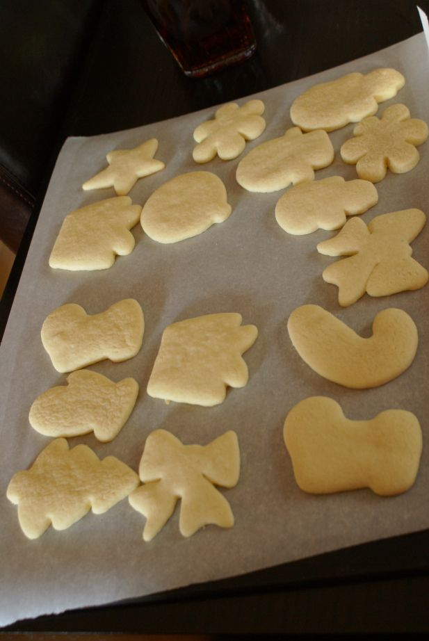 Sugar cookies.. good recipe.   The blog cracks me up tho.  She makes all sorts of non-religious-santa infused cookies, then adds that she hopes everyone only thinks about Jesus on Christmas.