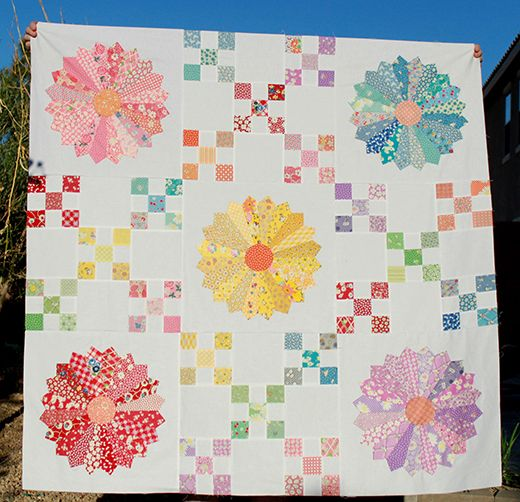 30s Irish Chain Dresden Plate Quilt