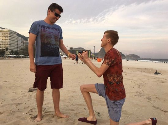 Gay Olympian Tom Bosworth asks boyfriend to marry him at the Rio Olympic Games and gets a big YES!
