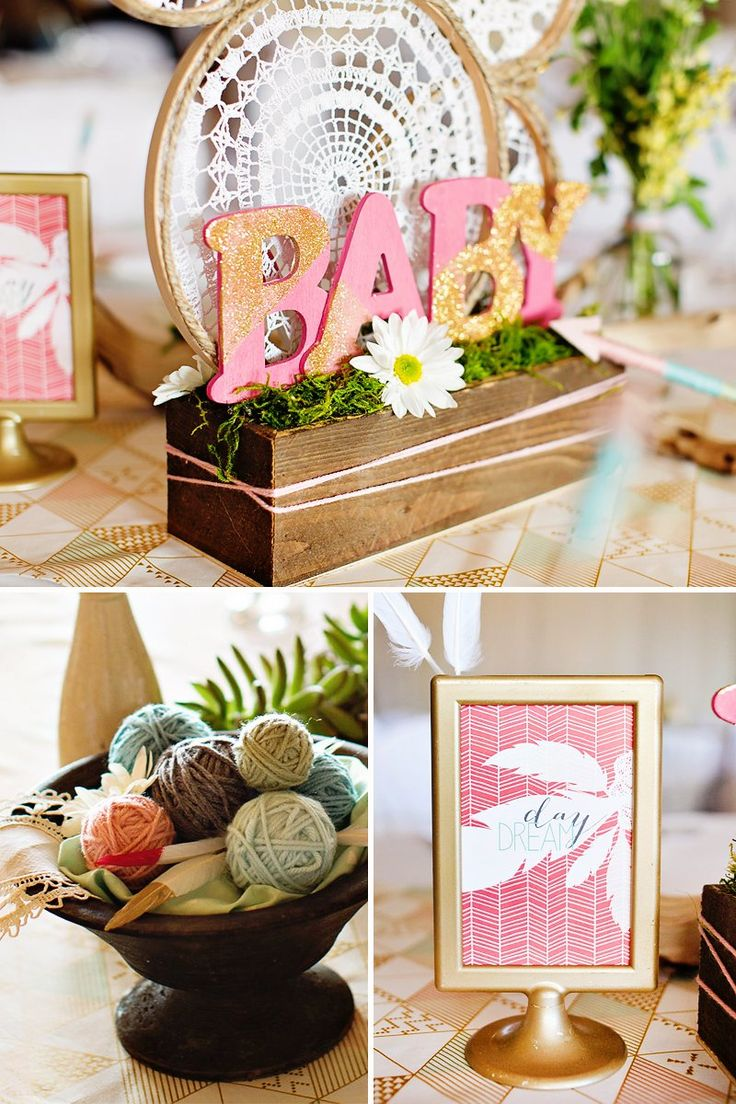 291 Best Themes Bohemian Baby Shower Images On Pinterest