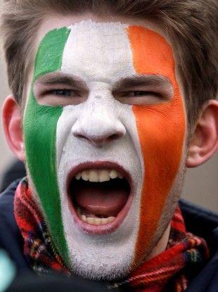 Irish Flag Face Paint