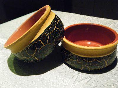 Marilena's Handmade Creations: Μπουκάλια - Βάζα - Φοντανιέρες - Ρεσώ - Διακοσμητικά πιάτα