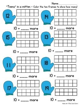 Here is a freebie for you! This is a worksheet I created for my students to practice their numbers 11-19. You can also laminate it and use with dry erase markers! I hope you enjoy this product! Please leave feedback and check out my other products!