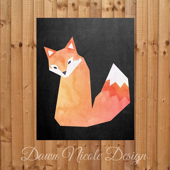 Nursery Prints clever fox theme on by DaybreakCreativeCo on Etsy