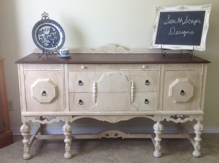 Refinishing furniture.  She does a great job!  A few nice examples on this link.
