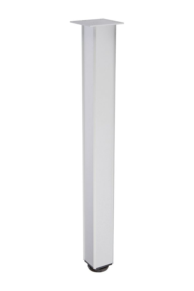 TL-LAMINATE-94 - Aluminum Table Leg for Laminate Sides (Satin Aluminum)