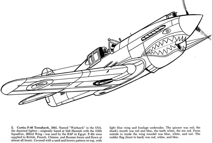 old planes coloring pages - photo#21