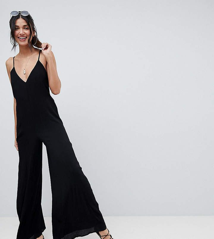 c5d04bada4ee ASOS Tall ASOS TALL Deep V Strap Back Jumpsuit ASOS DESIGN Tall Deep V  Strap Back