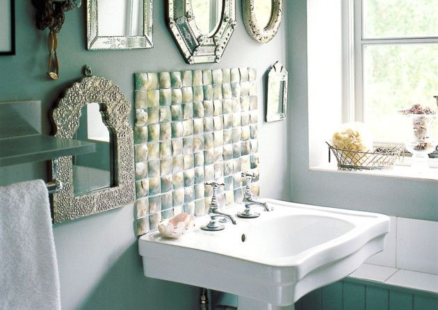 Hand-crafted mother-of-pearl tiles from Maybury Home