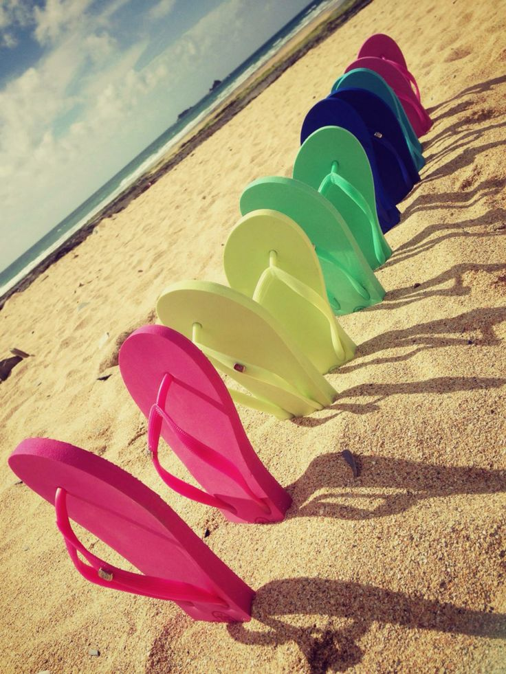 SS16 beach bound x Rio Carnival Colour Burst!  Ladies Flip Flops