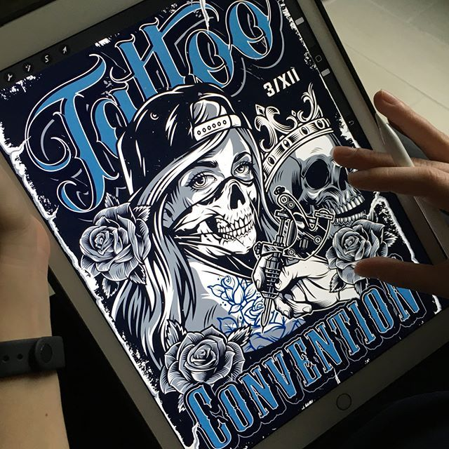 Chicano Girl Poster Design In 2020 Poster Design Custom Illustration Tattoo Posters