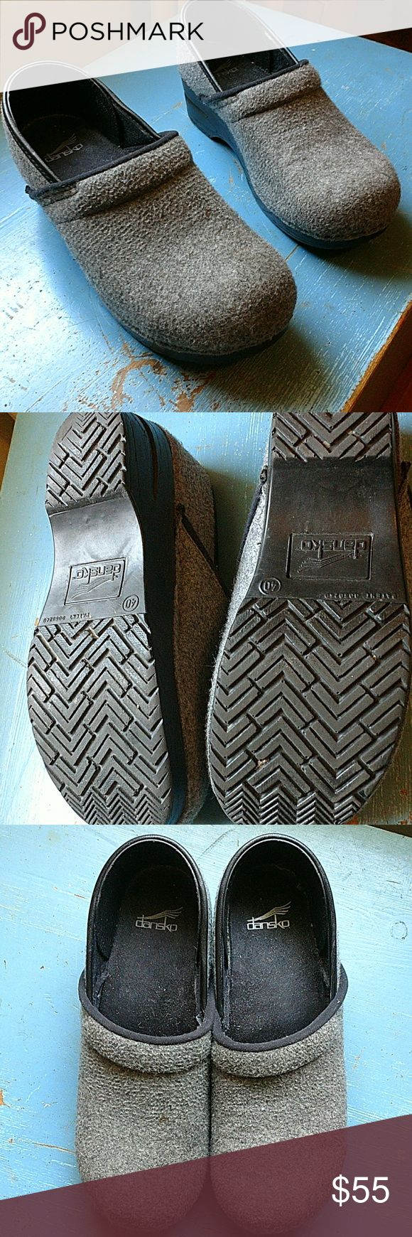 Gray felt Dansko clogs size 40 Worn handful of times Excellent condition Smokefree Petfree home Dansko Shoes Mules & Clogs