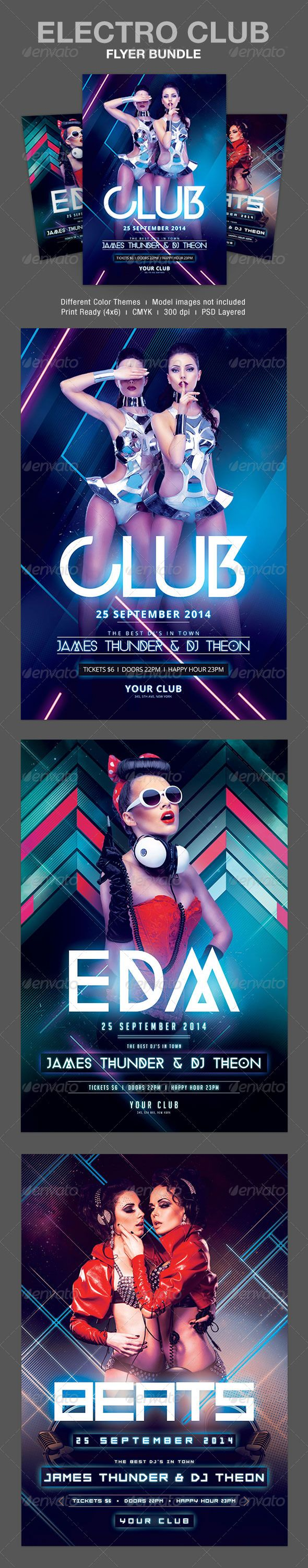 Electro Club Flyer Bundle Electro flyer, blue, bundle, clean, club, clubbing, cool, electro, event, flyer, flyer bundle, fresh, glow, glowing, house, light, line, minimal, modern, neon, night, nightclub, party, party flyer, poster, print, psd, pure, templ