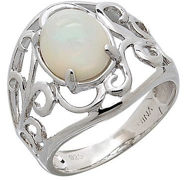 Opal Sterling Silver Ring. i want this but it's my birthstone so i can't buy it for myself. bad luck.