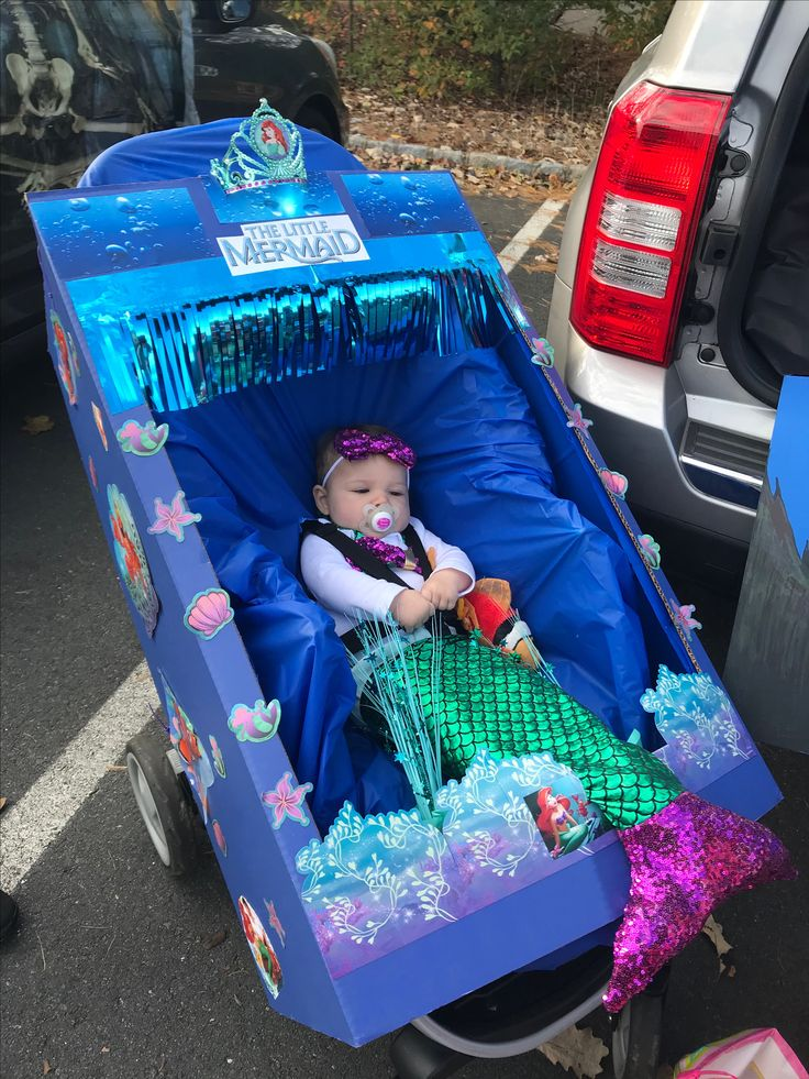 DIY Little Mermaid baby stroller Halloween Costume Baby