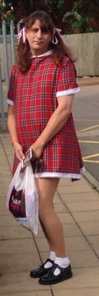 Kenneth taylor shopping in his little girls dress just so cute