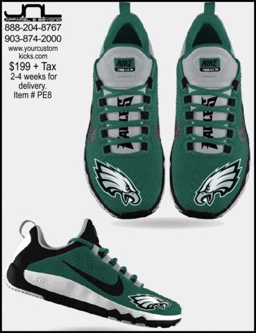 787f0ee14f Discover ideas about Go Eagles. Custom Limited Edition Philadelphia Eagles  Nike FREE 5.0 Shoes ...