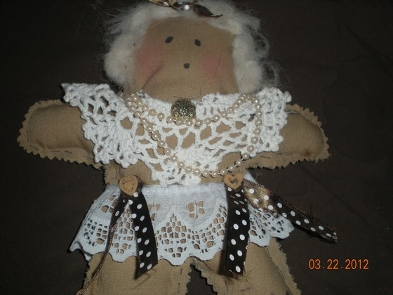 """Adorable folk art """"Dammit Doll"""" stress relief, filled with stuffing and Lavender $9.50"""