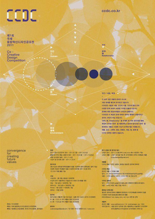 국제 융합 혁신 디자인 공모전 포스터