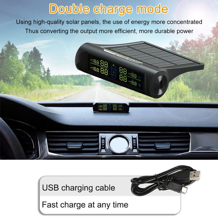 Wireless Solar Car Tire Pressure Monitoring System DIY TPMS Sales Online - Tomtop.com