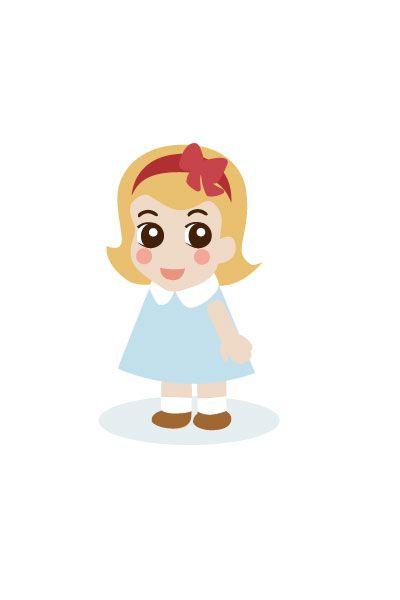 Little Gril Vector Image #kids #vectorimage #baby #character #littlegirl http://www.vectorvice.com/kids-baby-vector