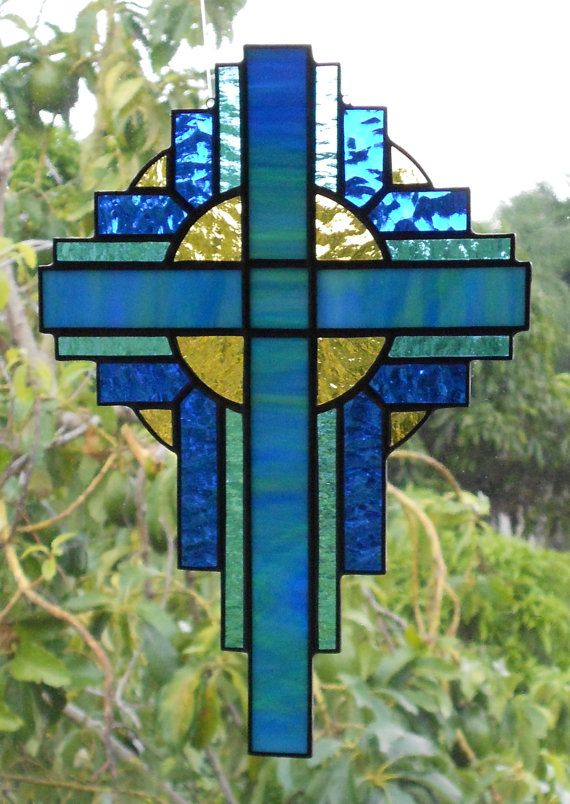 Stained Glass Cross by GlassPelican
