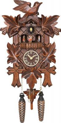 "Reloj de cuco estilo ""Madera tallada"" de cuarzo 35cm de Trenkle Uhren"