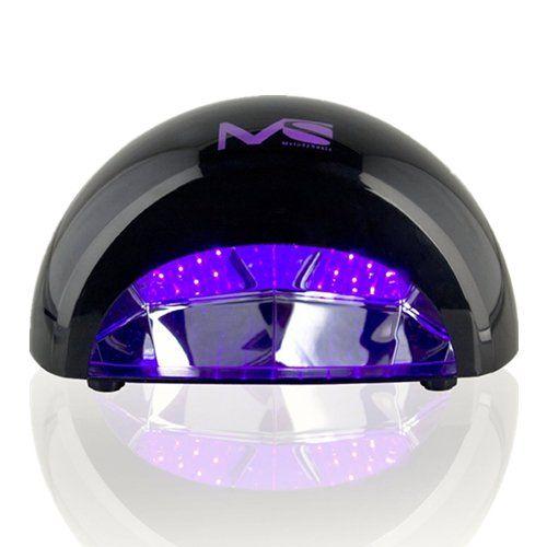 MelodySusie® VIOLETILI Sèche Ongles Lampe LED pour Gel LED – 12W Noir
