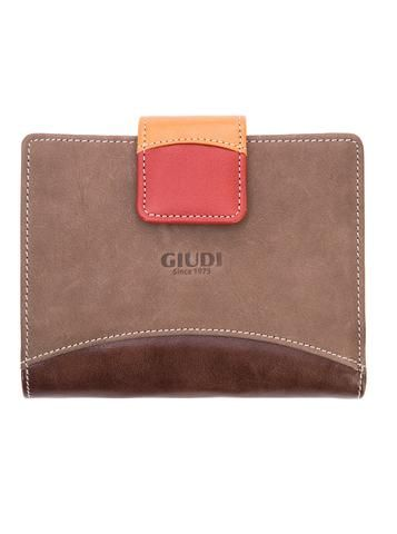 Brown italian leather multifunction wallet. 100% Made in Italy from vegetable dyed leather.